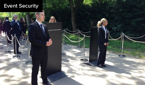 Security at event entrance