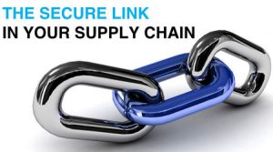 "Image of Chain with text ""The Secure Link in your Supply Chain""."